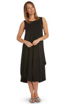 Sleeveless Tri Dress in Black