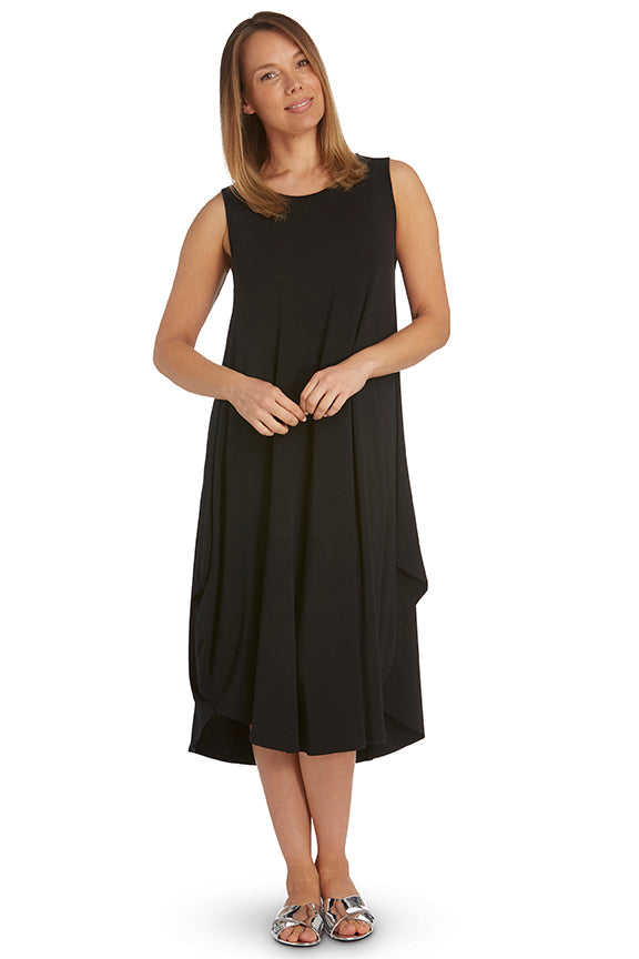 Black Sleeveless Tri Dress
