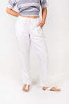 Drawstring Pant in White