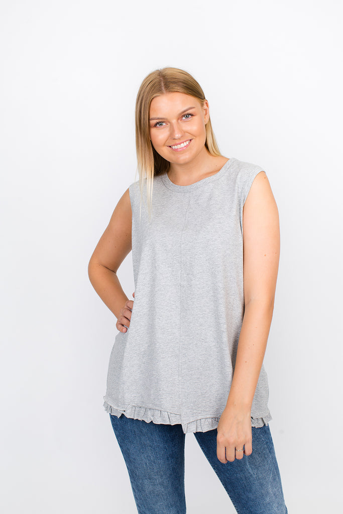 Sleeveless Tank in Grey