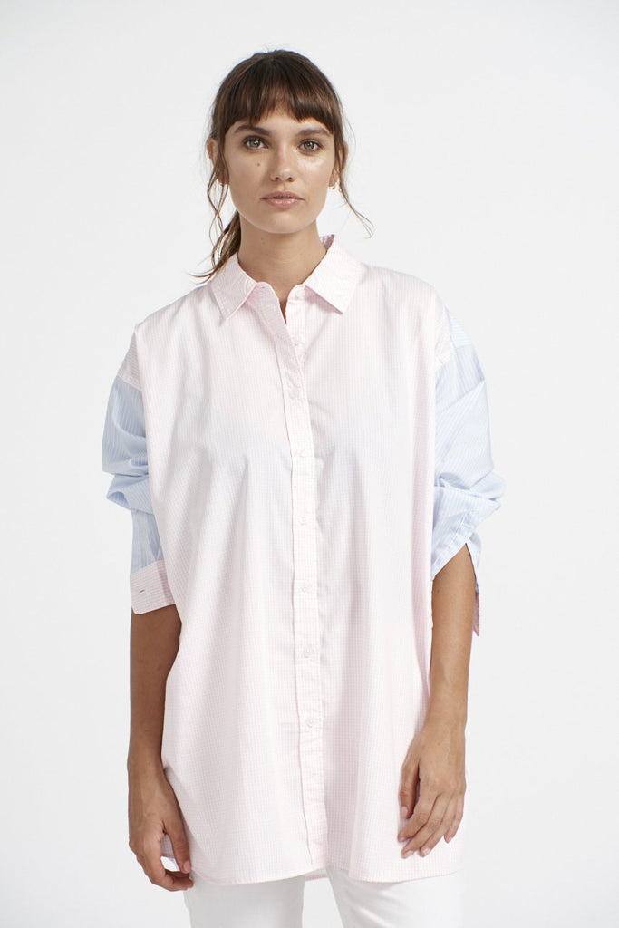 Mix It Up Shirt in Pink Check