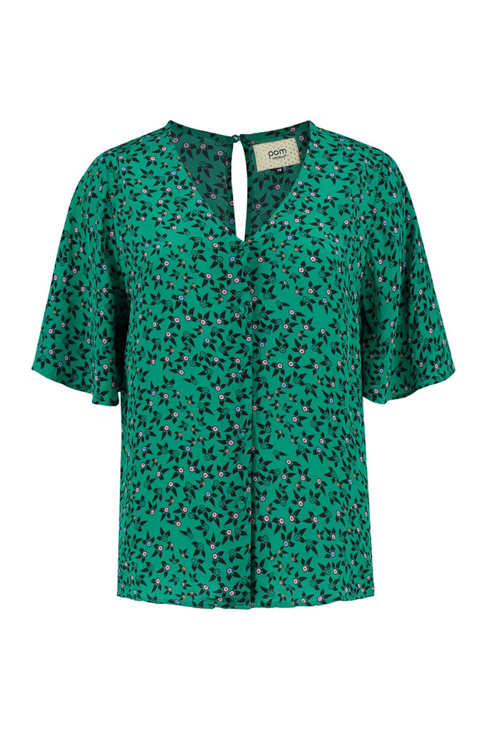 Fountain Coins Blouse in Green