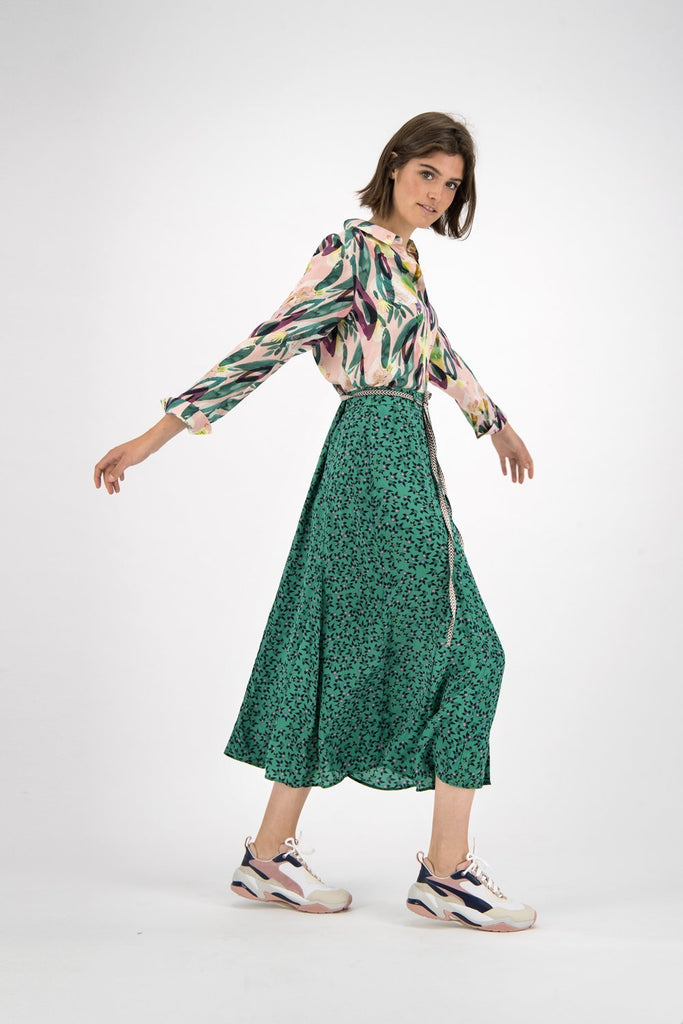 Fountain Coins Skirt in Green