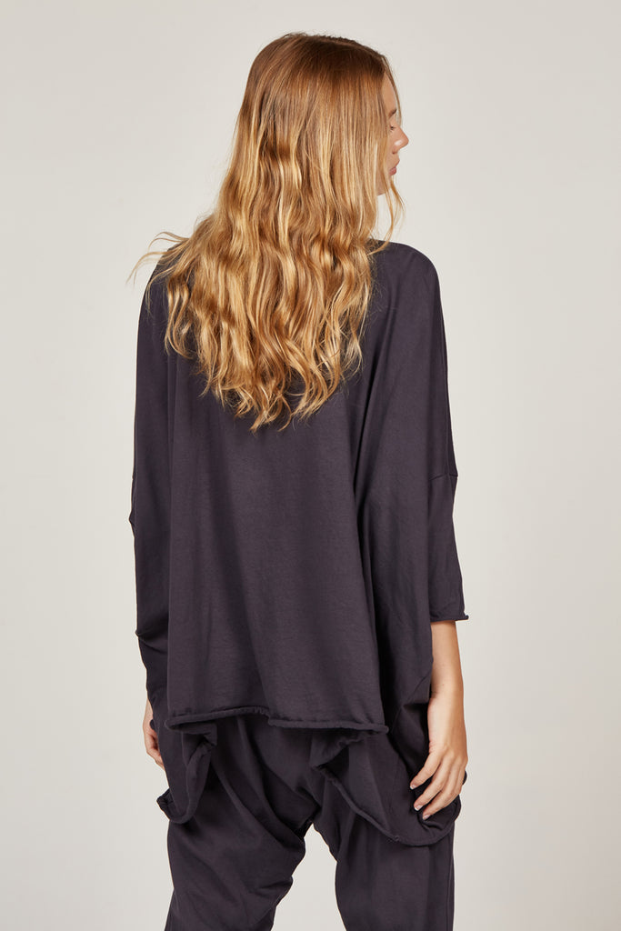 Box Long Sleeve Top in Ink