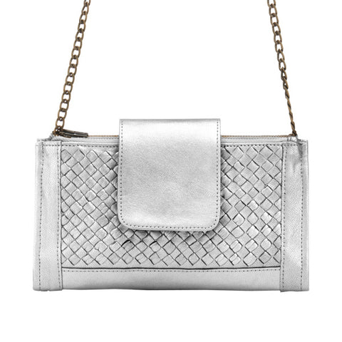 Prato Convertible Wallet - Metallic Silver