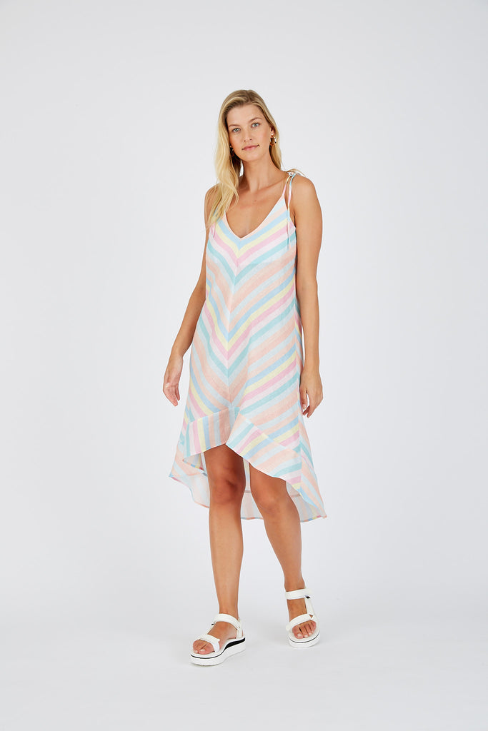 PRE-ORDER Leia String Dress in Rainbow Pastel