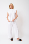 Chiquita Cotton Poplin Top in White