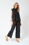 Sao Paulo Cotton Poplin Pant in Black