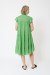 Gisele Cotton Voile Dress in Apple