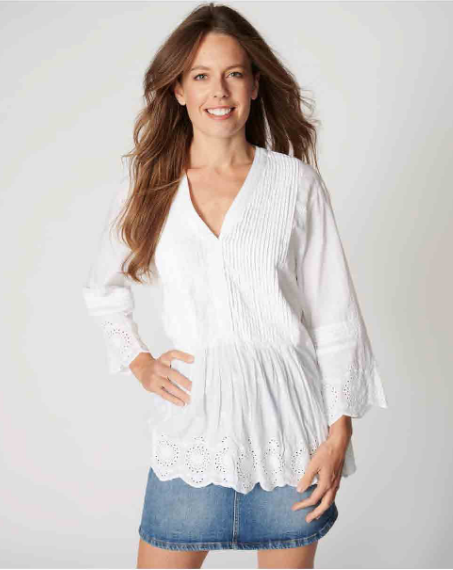 Ines Blouse in White