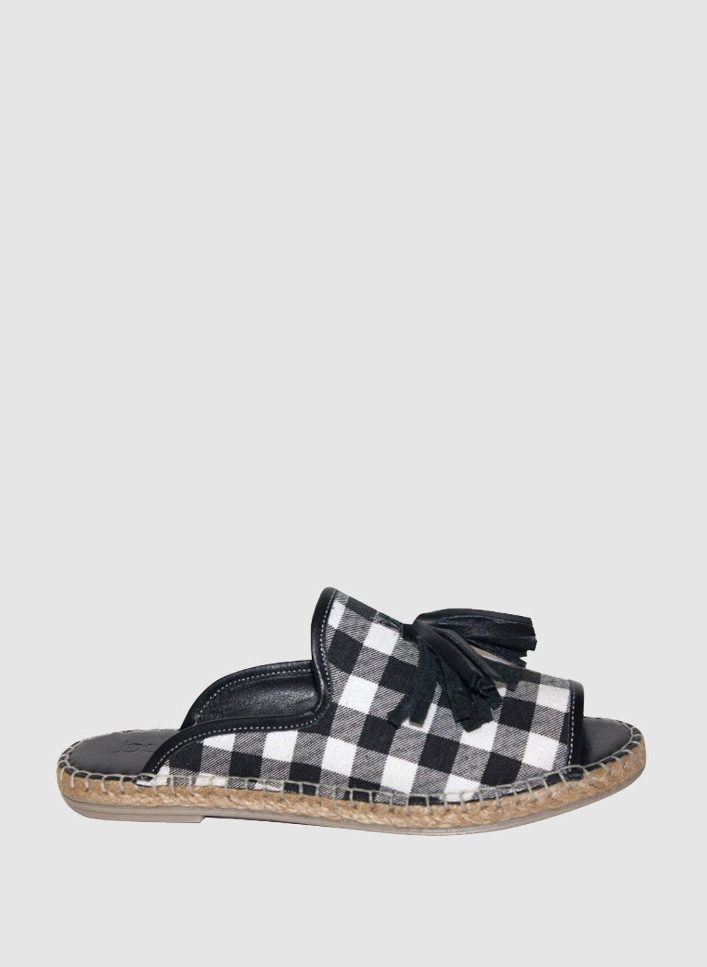 Kind Slide in Black Gingham