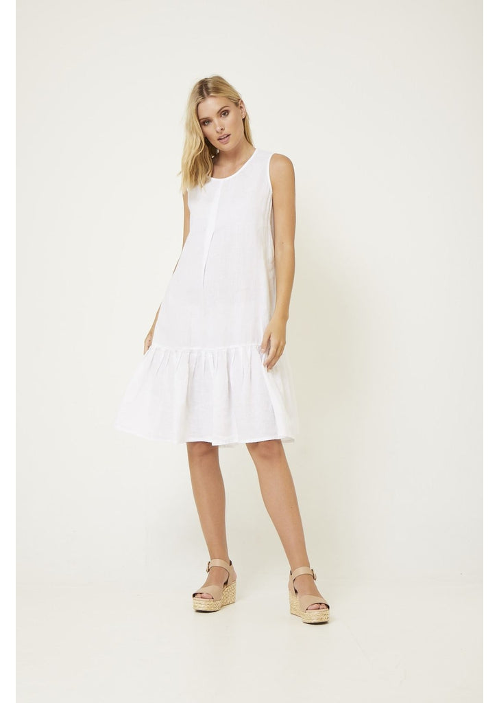 Trapeze Dress in White