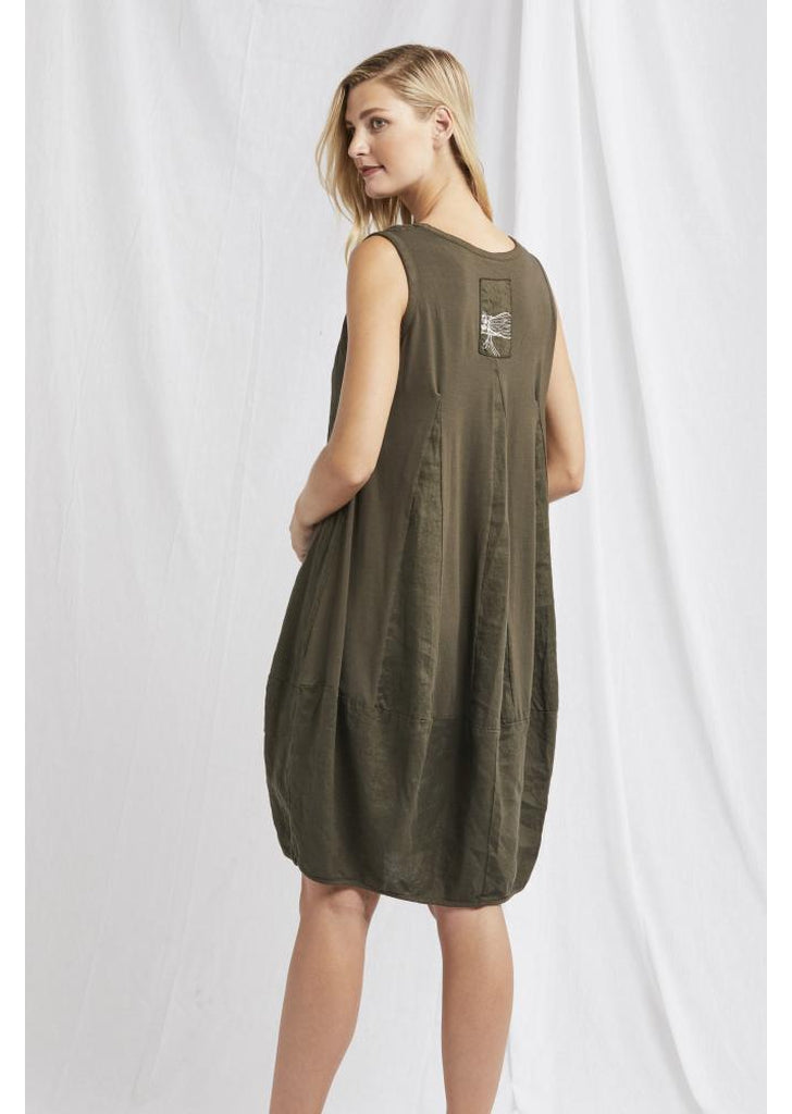 Mia Dress in Olive