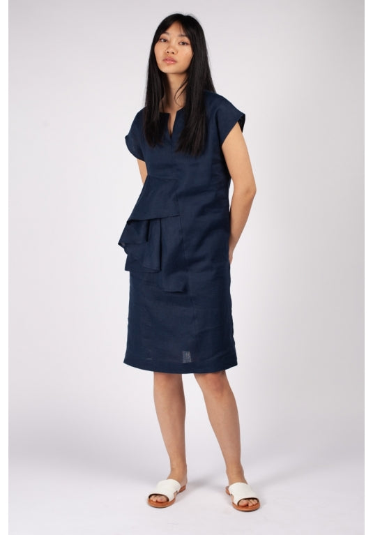Fuzuki Dress in Navy