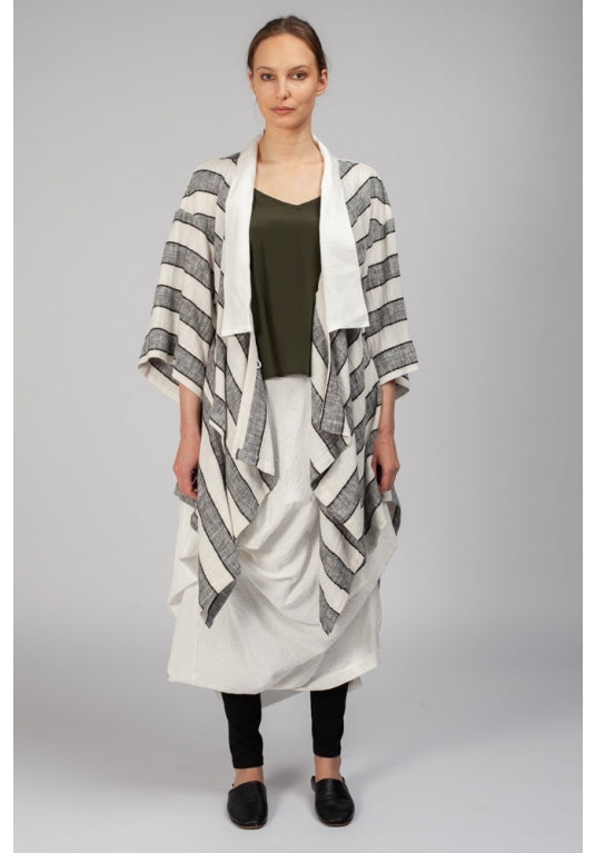 Haori Jacket Grey Stripe