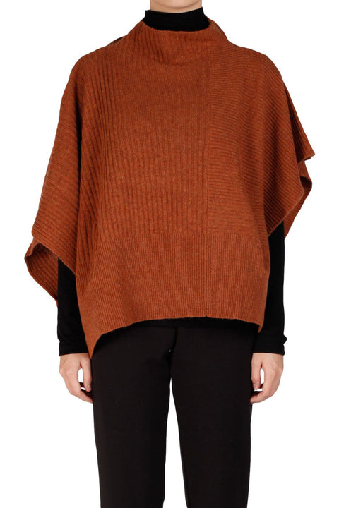 Etana Knit Cape - Orange