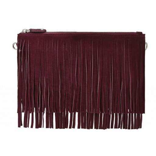 Mighty Purse Crossbody - Fringe - Red