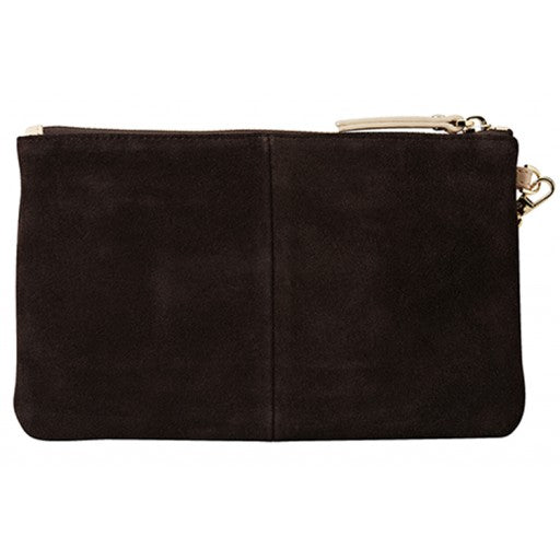 Mighty Purse Wristlet - Suede Dark Chocolate