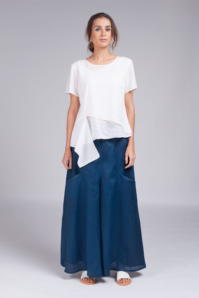 Hisame Wide Pant - Blue