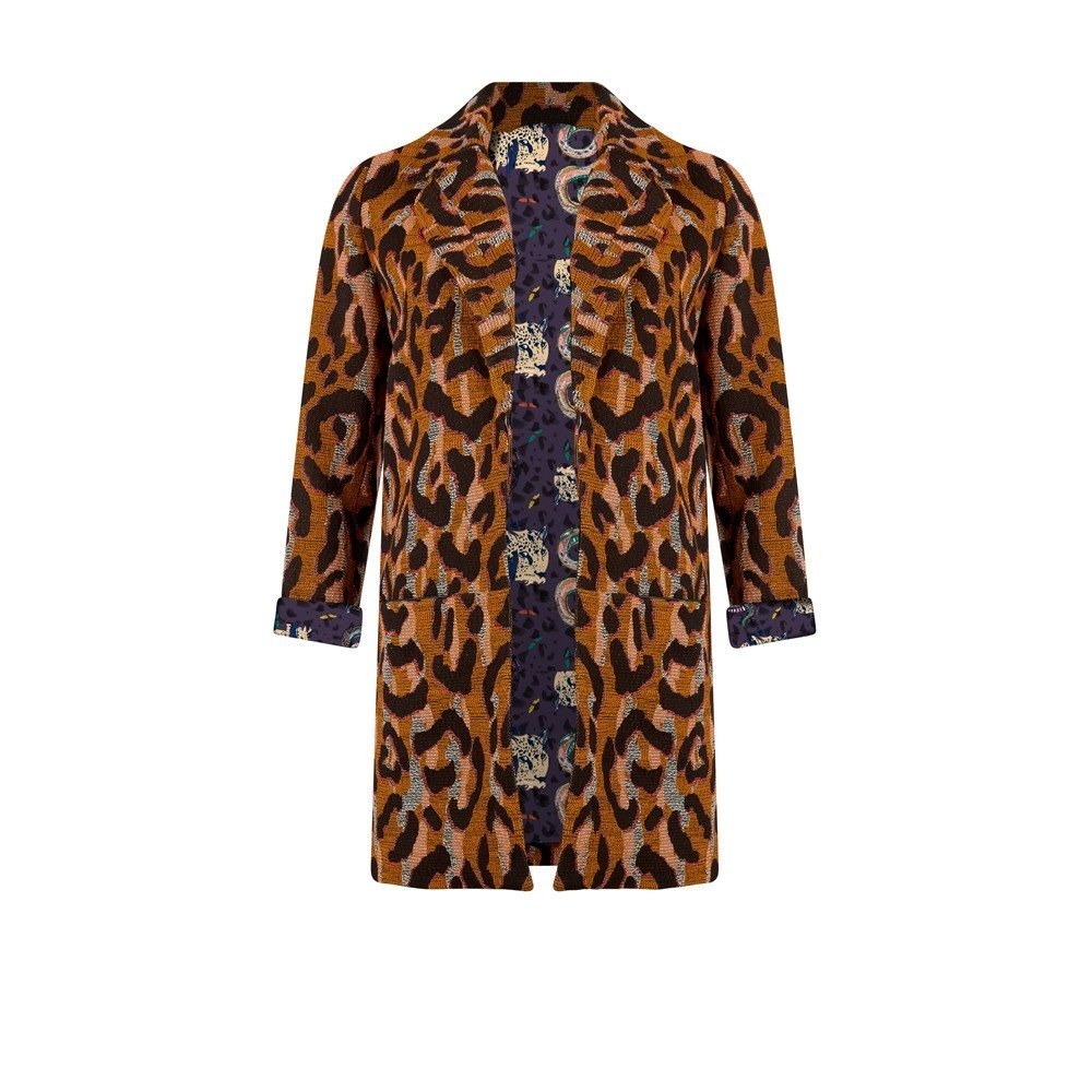 Big Leopard Jacket in Ocher