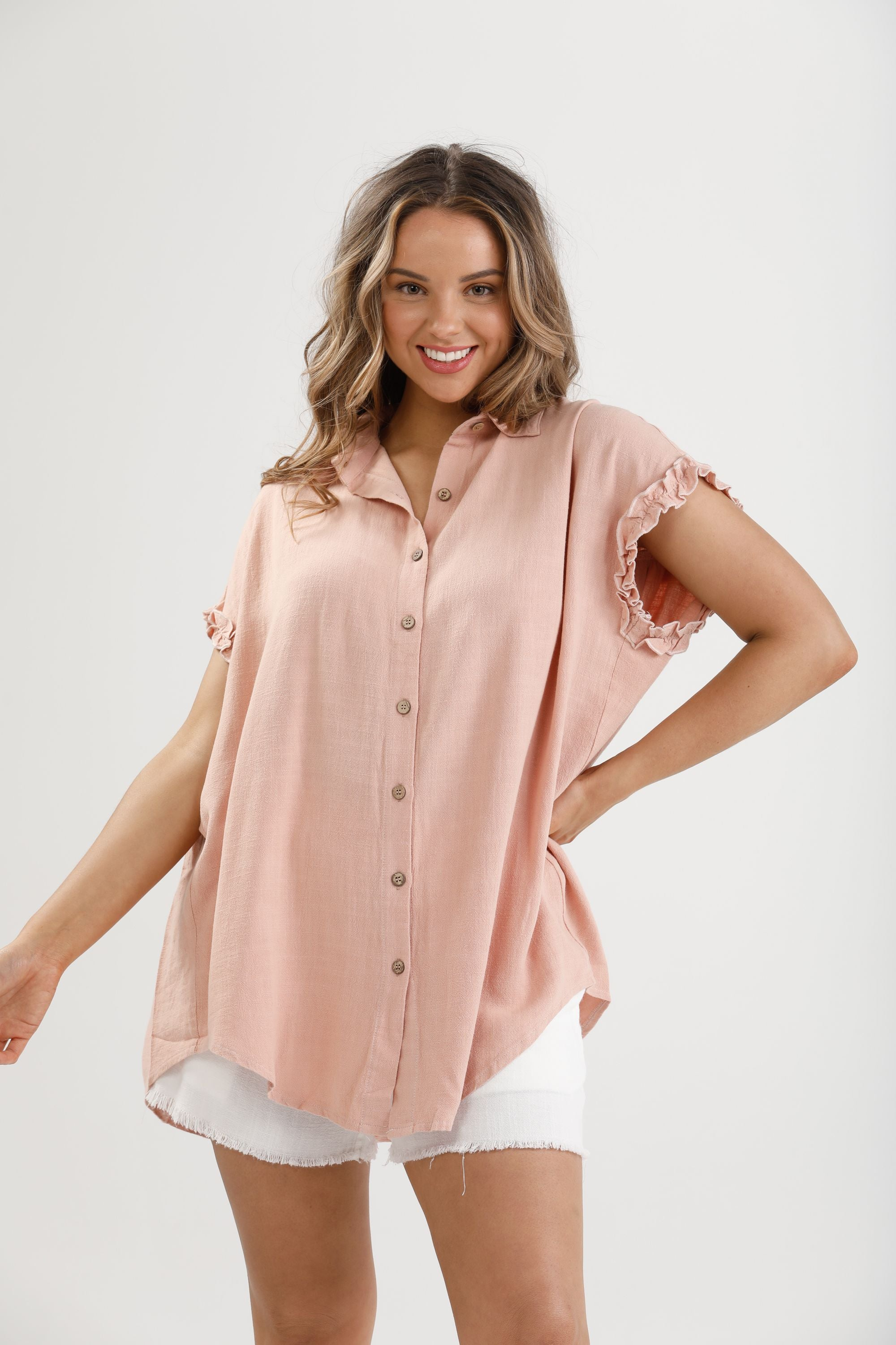 Sunshine Shirt in Spice - Linen Viscose