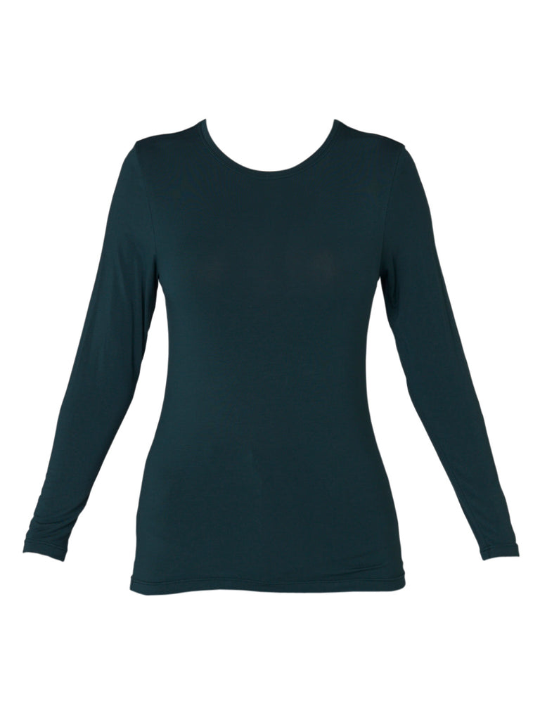 Emerald Long Sleeve High Neck Top