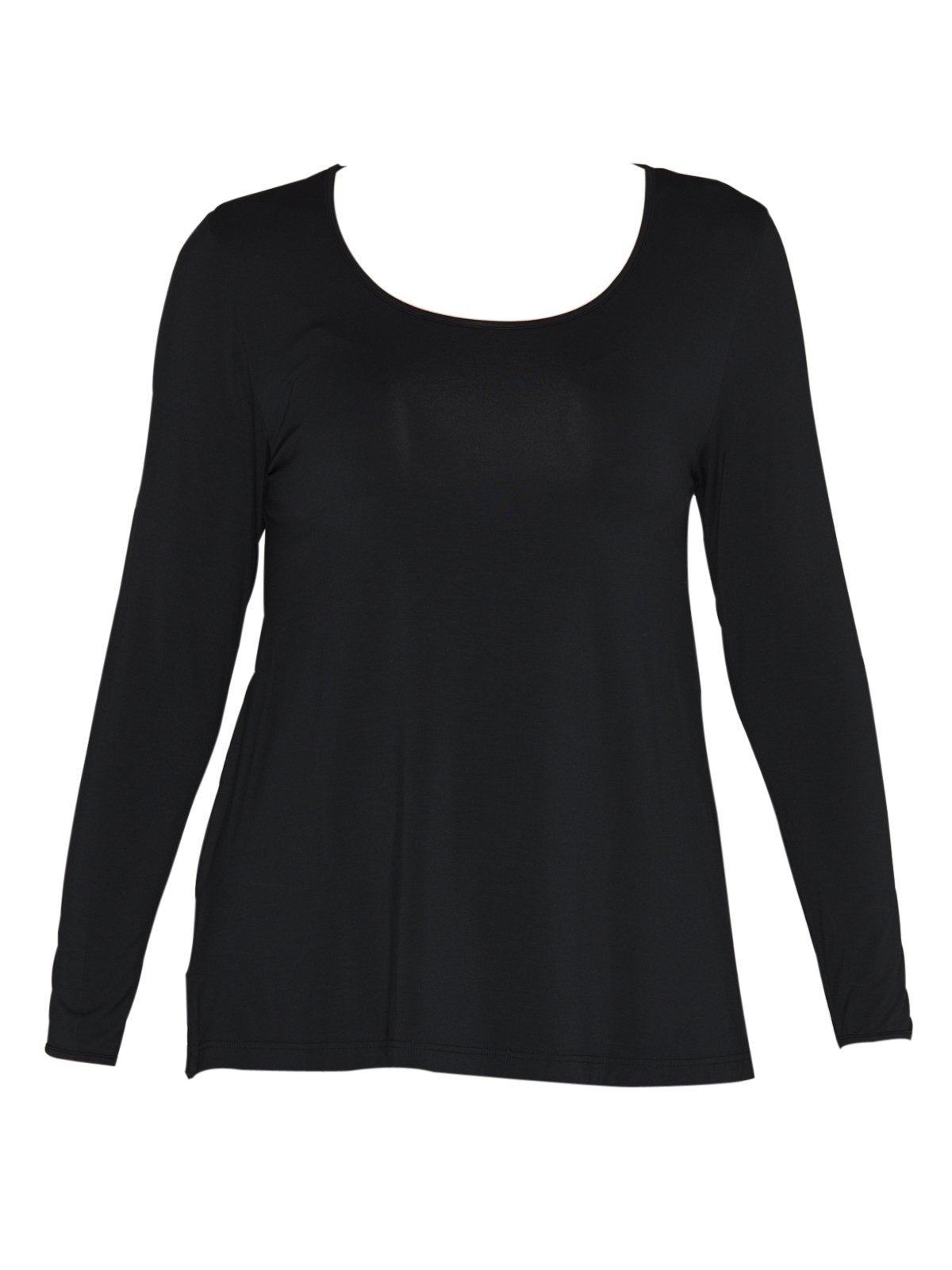Long Sleeve Swing Top in Black