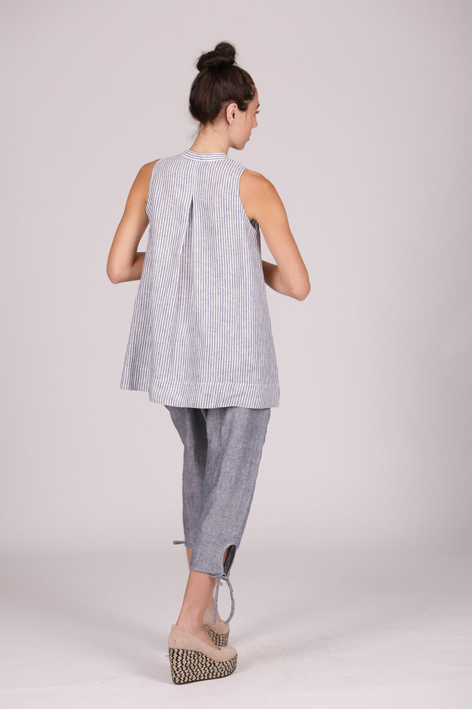 Josie Tank - Chambray Stripe