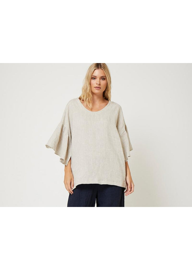 New Years Eve Blouse - Oatmeal