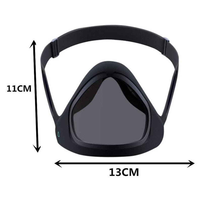 Protective Unisex Reusable Face Cover with Transparent Layer Without Removing