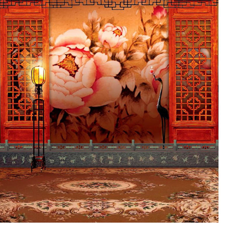 1.5x2.3m Retro Old Fashion Chinese Style Photo Backdrop Vlog Studio Background