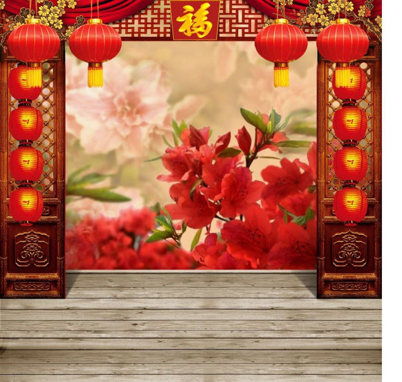 1.5x2.3m Chinese New Year Theme Backdrop Vlog Live Photo Background