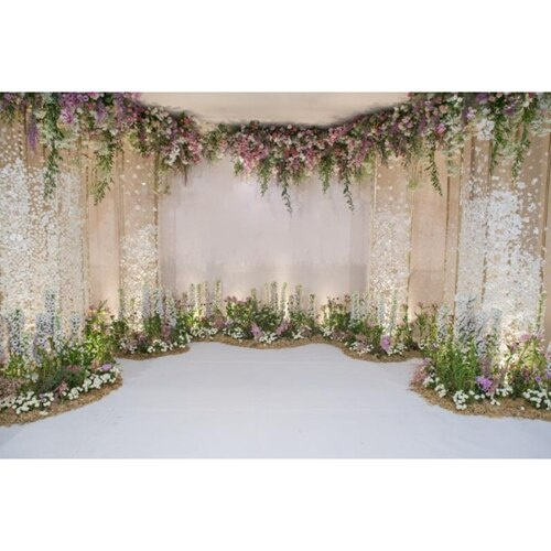 Flower Floret Wedding Backdrop Photography Background Backdrop - Celehomey