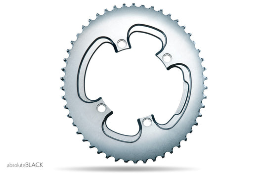 SILVER SERIES OVAL ROAD 110/4 BCD CHAINRING