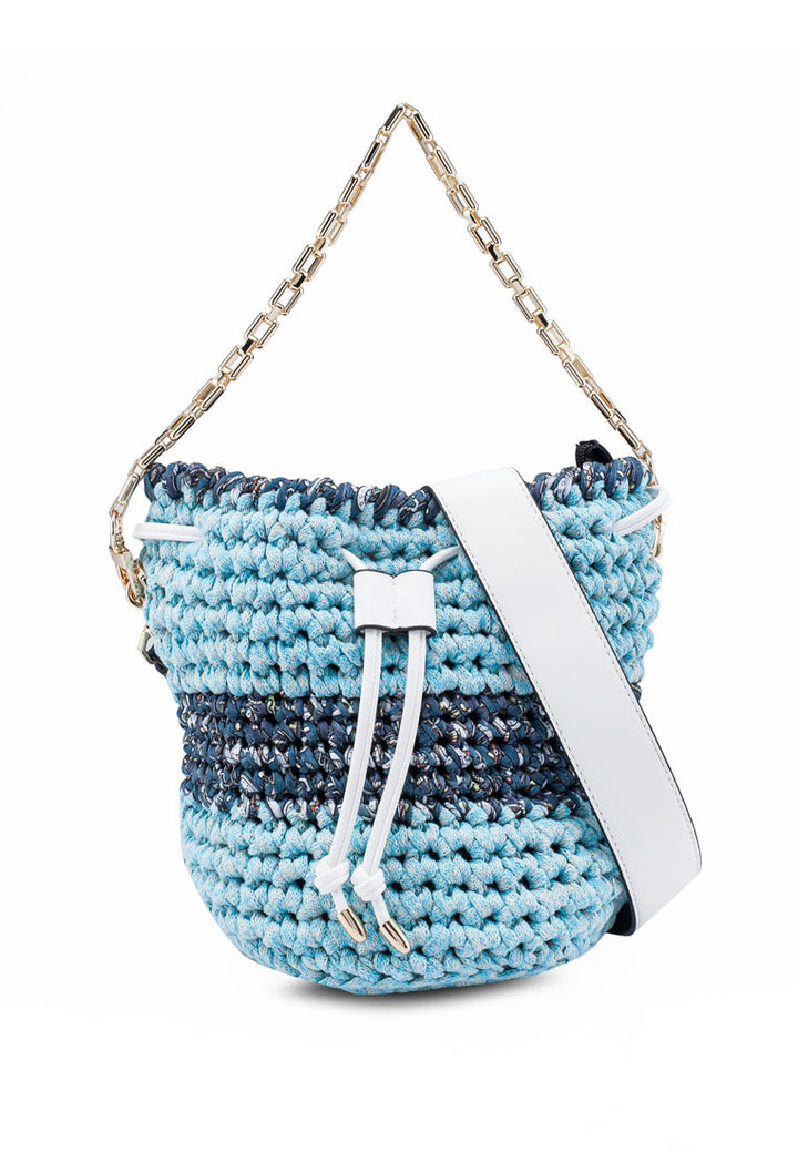 Crochet Drawstring Weekend Bucket Bag