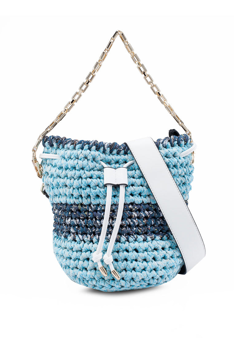 Crochet Drawstring Weekend Bucket Bag Lilys Jewelry