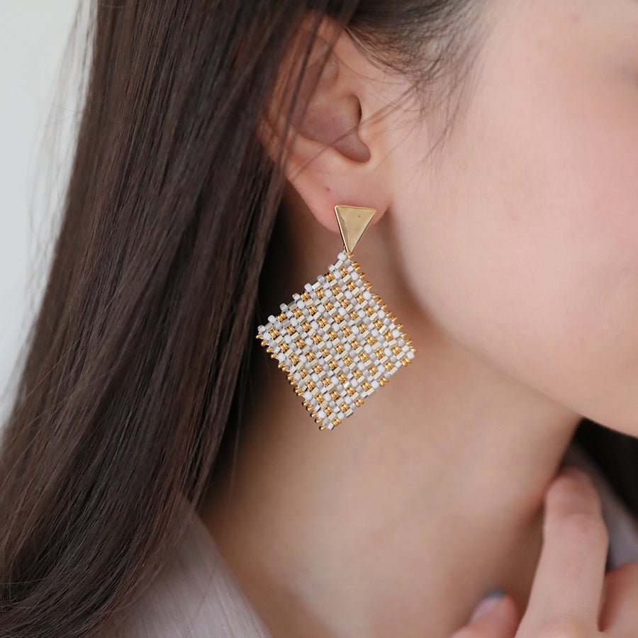 Big Square Drop Earrings