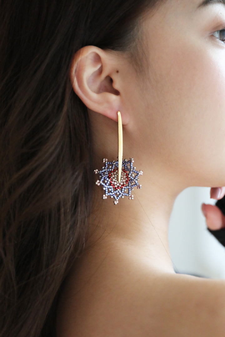 Snowflake-inspired Dangle Earrings