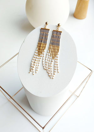 Stud to Luxe Long Tassel Earrings