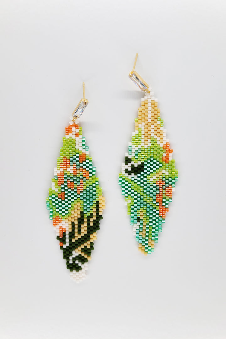 Beadwoven Art Earrings - Spring Starts