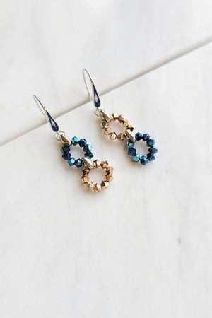 Small Circles Drop Earrings made with Swarovski® Crystals