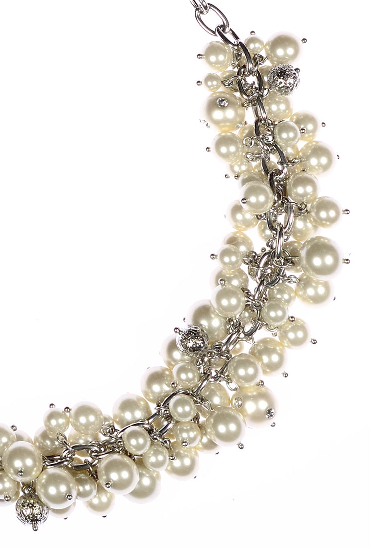 Ivory Champagne Pearl Cluster