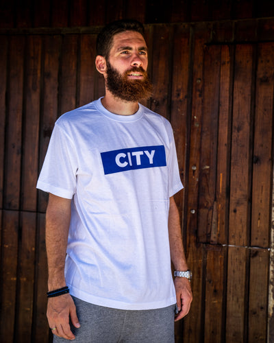 White CITY Box-Logo Tee