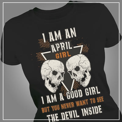 Devil inside April girl