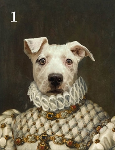Renaissance historical F-01 female pet portrait