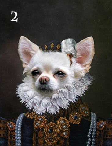 Renaissance historical F-02 female pet portrait