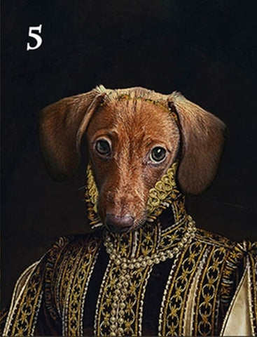 Renaissance historical F-05 female pet portrait