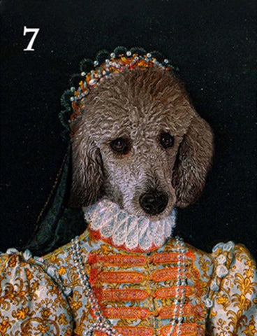 Renaissance historical F-07 female pet portrait