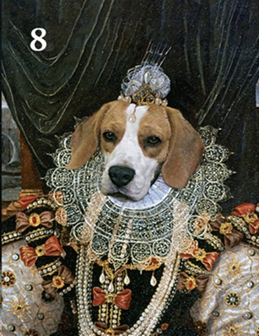 Renaissance historical F-08 female pet portrait