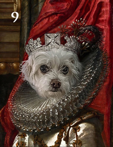 Renaissance historical F-09 female pet portrait